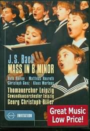 DVD VIDEO image BACH J S / MASS IN B MINOR BWV 232 / TOMANERCHOR LEIPZIG - G.C.BILLER - (DVD VIDEO)