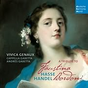 CD image GENAUX VIVICA / A TRIBUTE TO FAUSTINA BORDONI