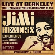 CD image for THE JIMI HENDRIX EXPERIENCE / LIVE AT BERKELEY (2LP) (VINYL)