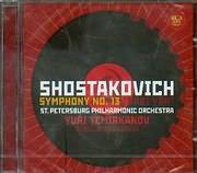 CD image SHOSTAKOVICH / SYMPHONY N 13 BABI YAR YURI TEMIRKANOV ST PETERSBURG PHILHARMONIC ORCHESTRA