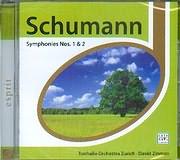 CD image SCHUMANN / SYMPHONIES 1 AND 2 - TONHALLE ORCHESTRA ZURICH - DAVID ZINMAN