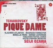 CD image TCHAIKOVSKY / PIQUE DAME - ATLANTOV - FORRESTER - FRENI - LEIFERKUS - SEIJI OZAWA (3CD)