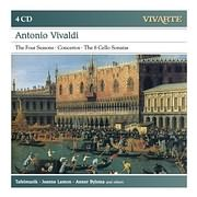 CD image VIVALDI / THE FOUR SEASONS - CONCERTOS - 6 CELLO SONATAS (TAFELMUSIC) (4CD)