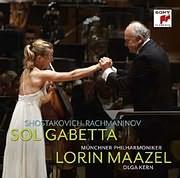 CD image SOL GABETTA / SHOSTAKOVICH: CELLO CONCERTO NO. 1 - RACHMANINOV (LORIN MAAZEL)