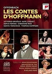 CD image for OFFENBACH / LES CONTES D HOFFMANN (VITTORIO GRIGOLO) (2DVD) - (DVD)