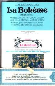 CD image for PUCCINI / LA BOHEME (THOMAS SCHIPPERS) (HIGHLIGHTS) (MC)