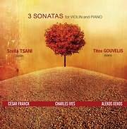 CD image STELLA TSANI - TITOS GOUVELIS / 3 SONATES GIA VIOLI KAI PIANO